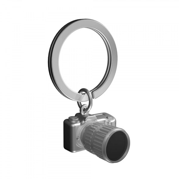 Gun metal camera keyring