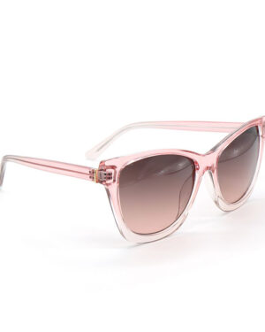 pale pink oversize sunglasses