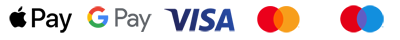 Payment methods - Apple pay, Google pay, Visa, Mastercard, Meastro