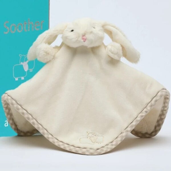bunny soother finger puppet