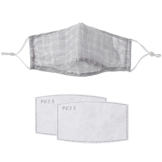Grey Check Mask