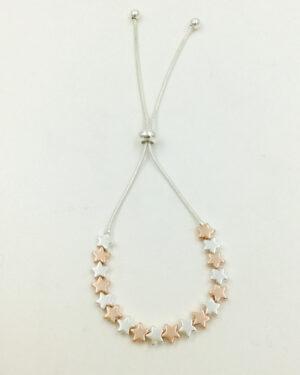 Silver and rosegold bracelet