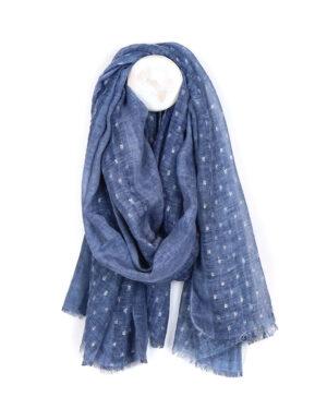 blue soft wash dash scarf