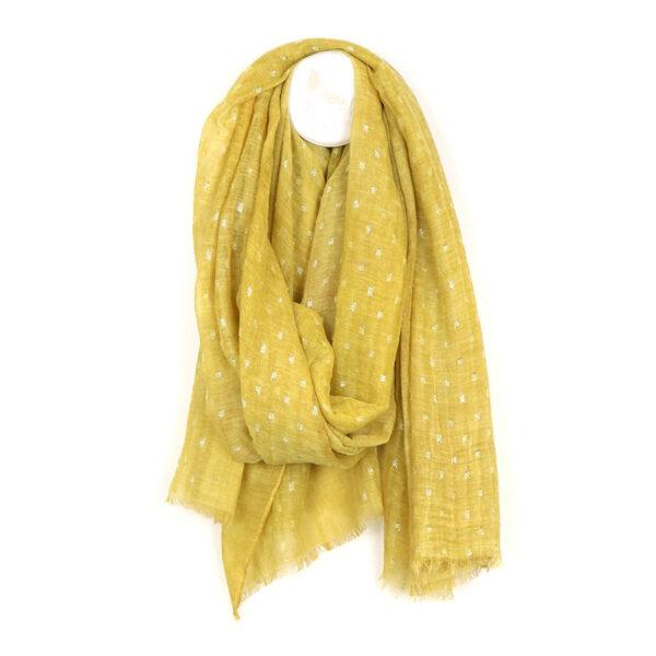 soft wash mustard dash scarf