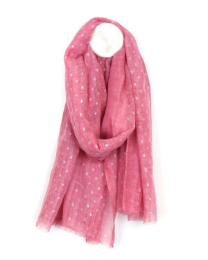 pink soft wash dash scarf